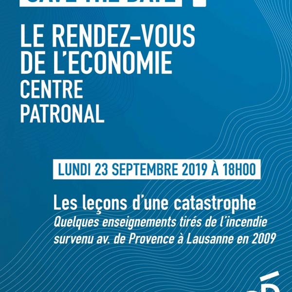 Le rendez-vous de l'économie – Conférence sur «Les leçons d'une catastrophe»